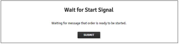 Waiting Message Screen