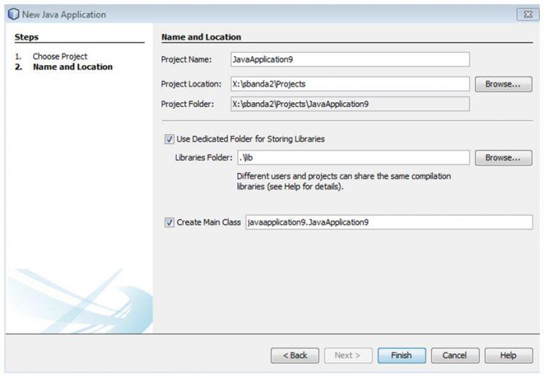 NetBeans IDE Finish Screen