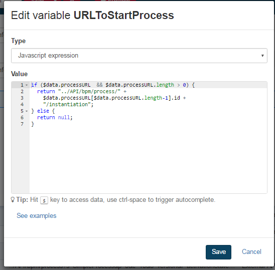 Process Instantiation URL