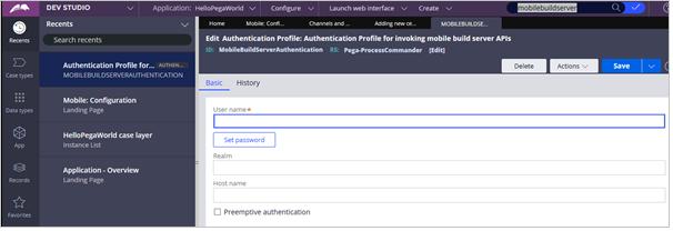 Authentication Profile